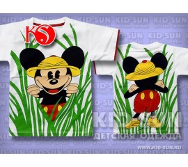 "Футболка для мальчика ""Safari Mickey"", р.122,128"